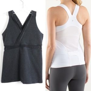 Lululemon deep V charcoal v-neck wrap athleta yoga